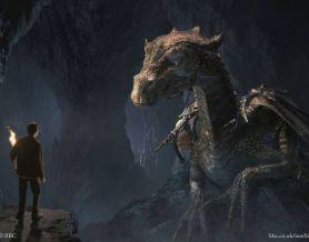 На фото Мерлин и дракон